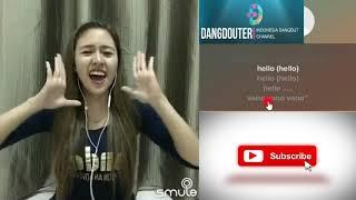 HELLO DANGDUT Duet bareng Babyshima smule karaoke bareng artis