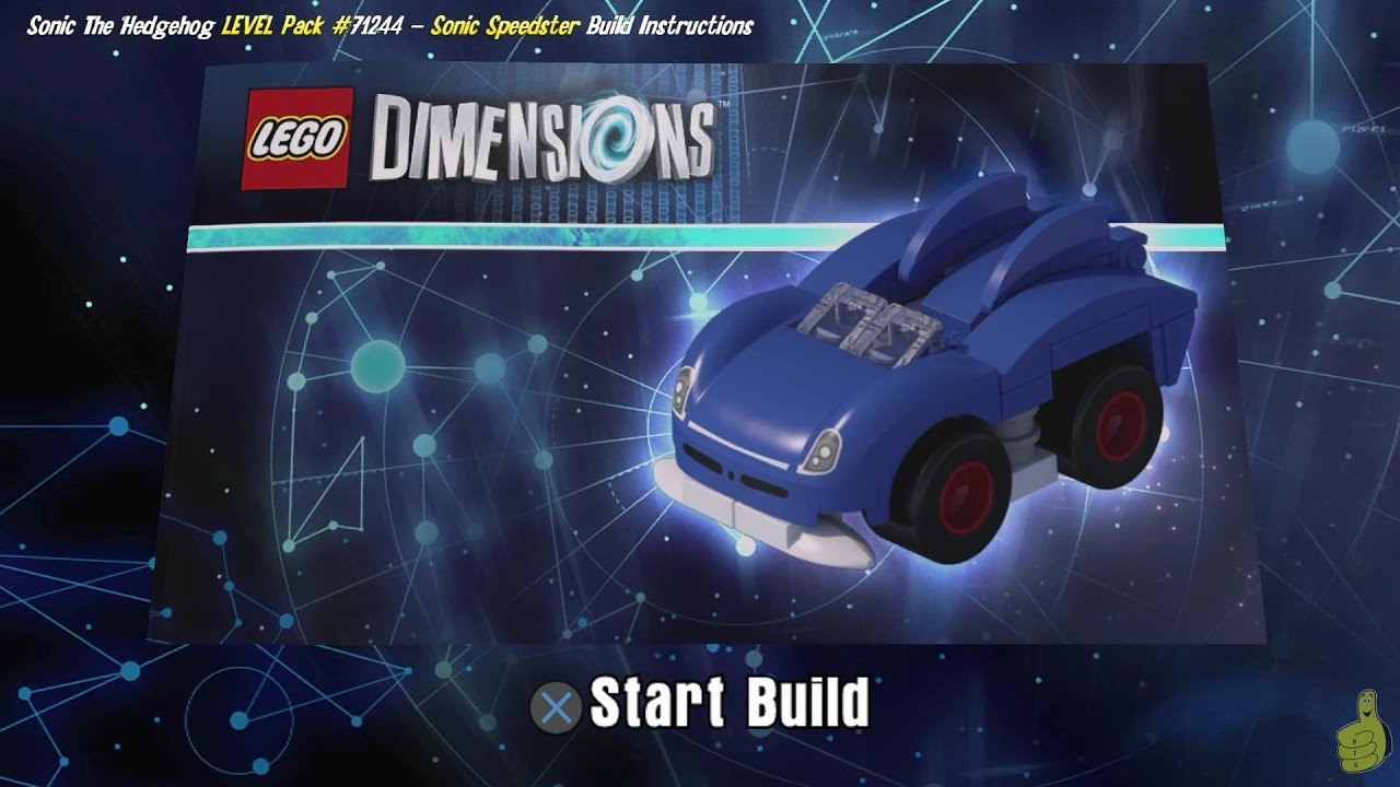 Lego Dimensions: Sonic Speedster / Build Instructions (Sonic the