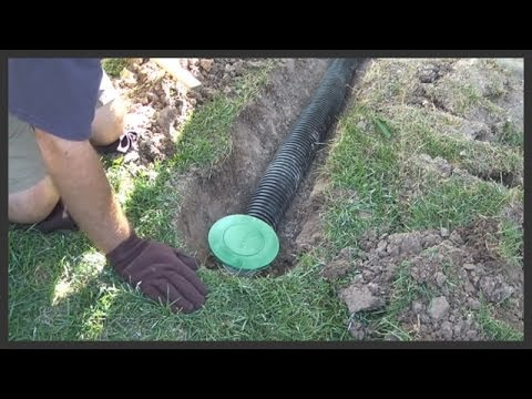 How To Install A Lawn Pop Up Drain 2 Youtube