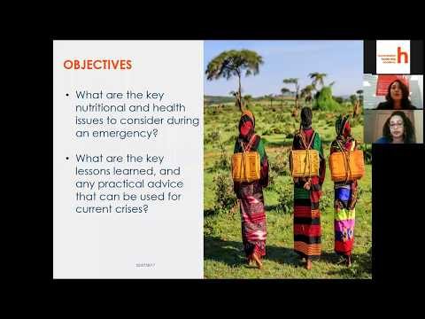 Webinar: Health and Nutrition in Emergencies - Lessons Learn