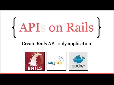 APIs on Rails: Create a rails API-only application