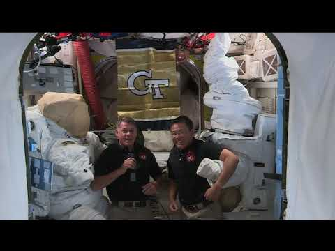 Expedition 65 inflight with Georgia Tech and WXIA-TV, Atlanta - May 4, 2021