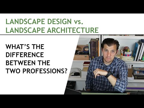 What is the difference between Landscape Design & Landscape Architecture?