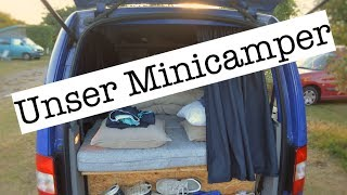 Minicamper - einfacher Ausbau | Caddy, Kangoo, Berlingo, Connect, Dokker | Hochdachkombi