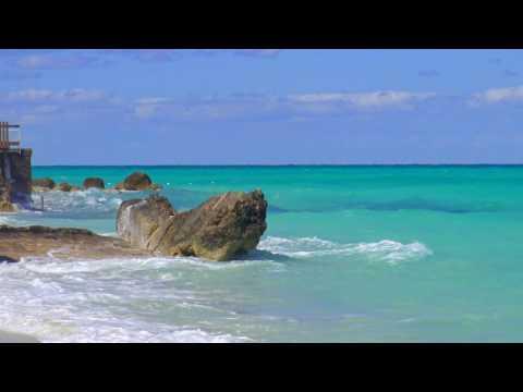 Minute of Beach Bliss on Cable Beach, Nassau Bahamas