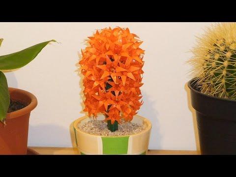 Origami-Hyazinthe, Bauanleitung (Origami flower hyacinth)