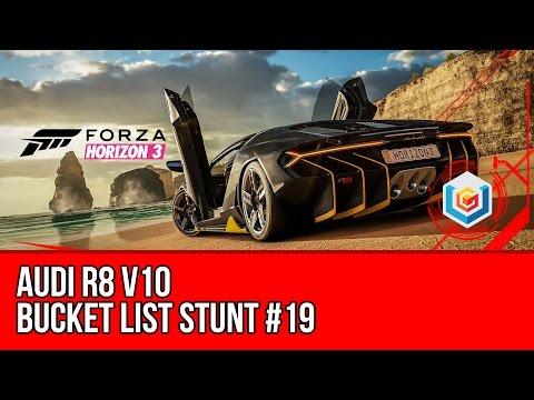 Forza Horizon 3 - Bucket List Stunt #19 - Audi R8 V10