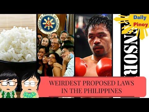 WEIRDEST PROPOSED LAWS!! (PHILIPPINES)