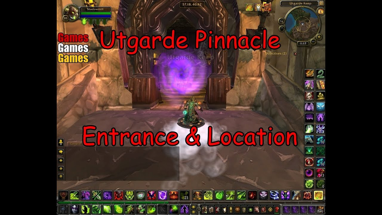 The Utgarde Pinnacle Entrance Amp Location World Of Warcraft Wrath Of The Lich King YouTube