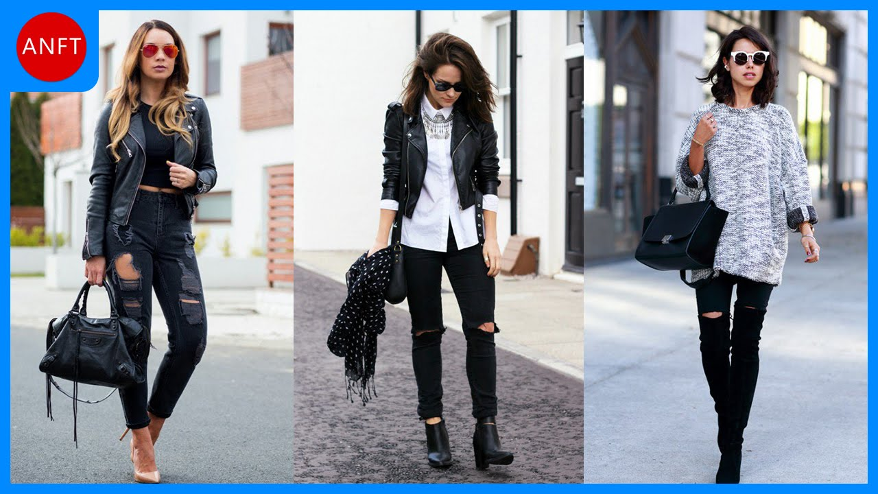 How to Wear Black Ripped Jeans Every Day - YouTube