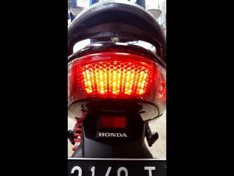 Custom stop lamp & sign Honda Vario 110cw