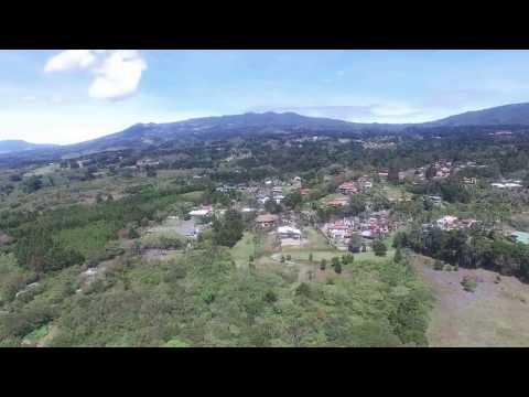Drone views of San Rafael, Heredia Costa Rica 4k