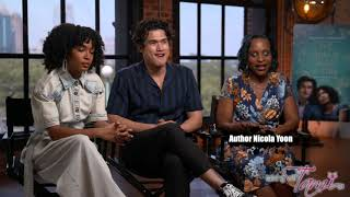 The Sun Is Also A Star Interview With Cast Yara Shahidi, Charles Melton And Author Nicola Yoon
