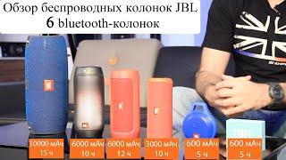 Обзор 6-ти беспроводных колонок (bluetooth) JBL Go, Clip+, Flip 3, Charge 2+, Pulse 2, Xtreme