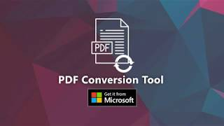 PDF Conversion Tool for Windows 10 users