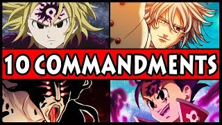 All 10 Commandments RANKED from Weakest to Strongest! (Seven Deadly Sins / Nanatsu no Taizai)
