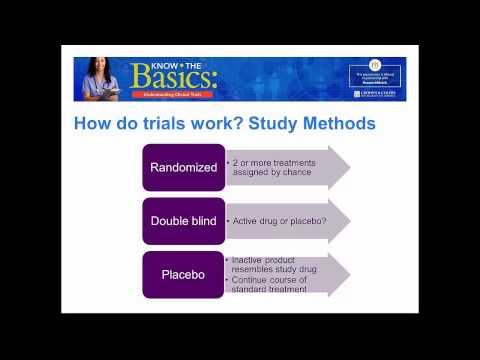 Know the Basics  Understanding Clinical Trials