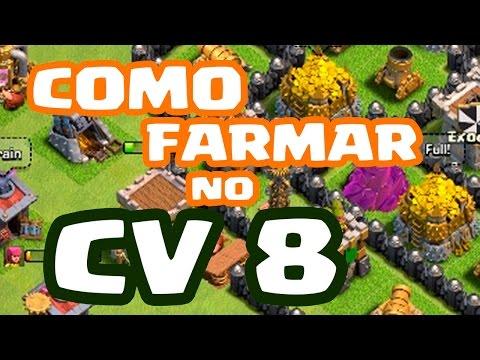 Dicas para ROUBAR OURO e ELIXIR no CV 8 no Clash of Clans | COMO FARMAR | NOVA SÉRIE