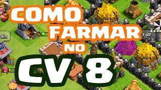 Dicas para ROUBAR OURO e ELIXIR no CV 8 no Clash of Clans   COMO FARMAR   NOVA SÉRIE