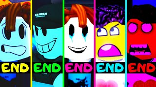 Roblox - All 5 Endings - Piggy Game Guesty!