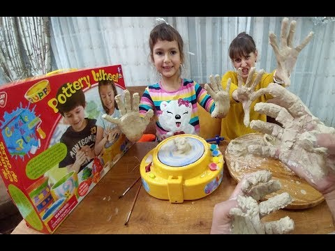 POTTERY WHEEL KİL ÇÖMLEK KUPA MAKİNASI, YAPMAYI BECEREMEDİK, Eğlenceli Çocuk Videosu, oyuncak toys