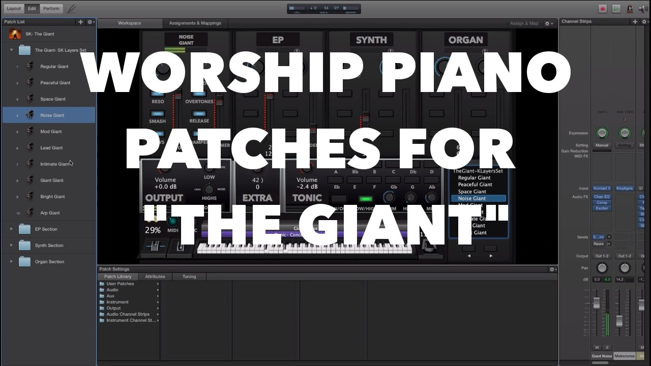 Free Mainstage Patches ERIC BARFIELD Music Gear in 2019
