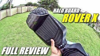 HALO BOARD ROVER X Hoverboard Review - (Street, Hill, Grass, Ride Test)
