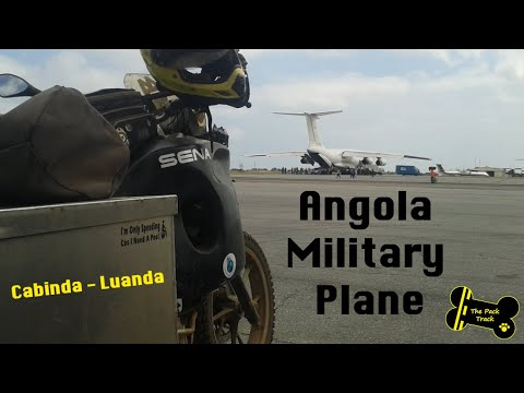 Military plane transport from Cabinda to Luanda, Angola