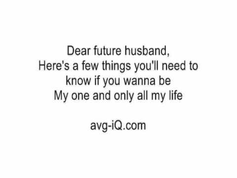 Dear Future Husband By Meghan Trainor Acoustic Guitar Instrumental Cover With Lyrics Karaoke