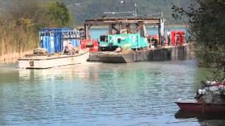 Histoire de barge au lac d'Aiguebelette