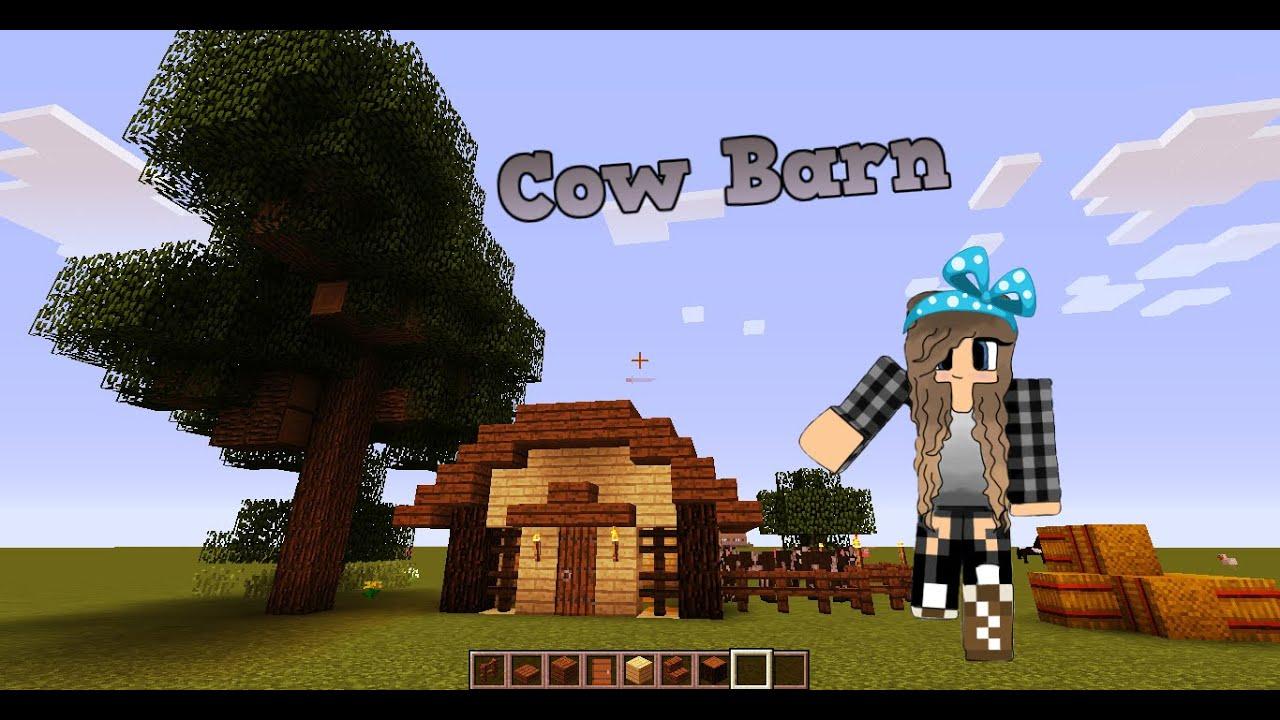 Minecraft EASY Cow Barn TUTORIAL