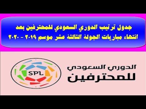 جدول ترتيب الدورى السعودى بعد الجولة ال13 وفوز النصر وتعثر الهلال