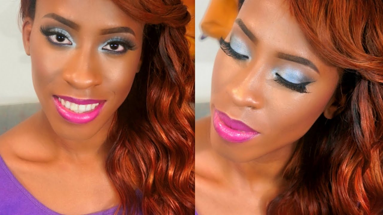Prom Makeup/Hair Tutorial For Black Women Feat. La Girl Cosmetics - YouTube