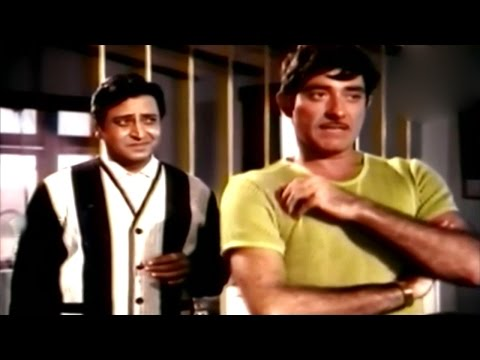 Word Fight Between Raaj Kumar & Pran @ Rajesh Khanna, Raaj Kumar, Mala Sinha