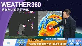 2018/09/15 山竹通過呂宋島進南海 今東部恆春大雨、全台強陣風
