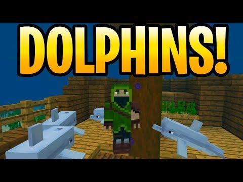 Minecraft 1.13 Aquatic Update DOLPHINS & HIDDEN FEATURES! Xbox, PE & Switch