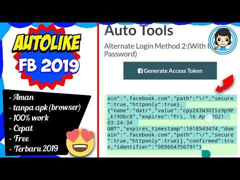 Cara AutoLike Facebook 100 - 1000 PerHari Aman Dengan Browser & Token Tanpa Aplikasi 100% Work 2019