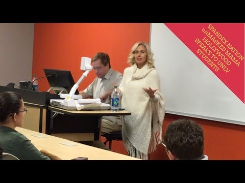 SPANDEX unMASKED MAMA HOLLYWOOD SPEAKS TO NEVADA STATE COLLEGE STUDENTS
