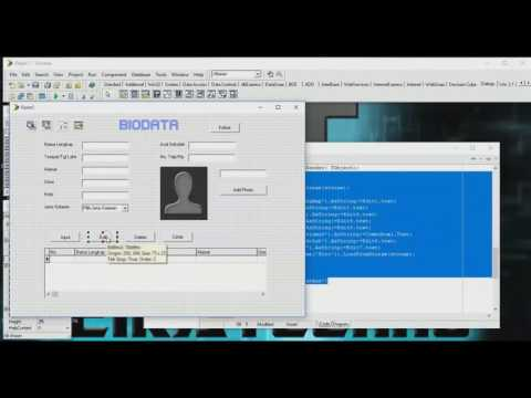Tutorial Delphi-Database, Simpan, Edit, Delete, Cetak, dan Add foto