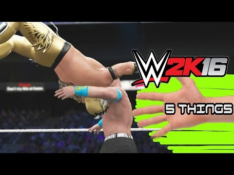 WWE2K16 - 5 Hidden Move Counters - 5 Things
