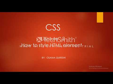 CSS Tutorial for Beginners - 2 - Using  style sheet thumbnail