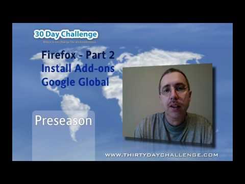 Firefox Part 2 - Installing Google Global Add-on