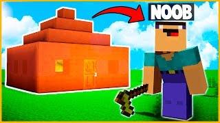 NOOB VS CASA 100% DE CACA - MINECRAFT (Minecraft Troll)