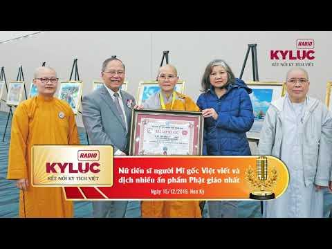 KylucRadio.vn| Xác lập kỷ lục Nữ tiến sĩ người Mỹ gốc Việt viết và dịch nhiều ấn phẩm Phật giáo nhất
