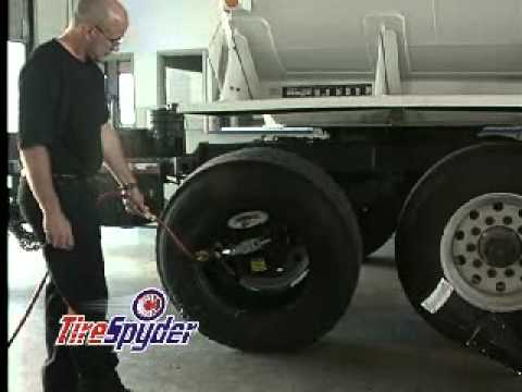 Tirespyder Mobile Tire Changer Changing The Tire On The Truck