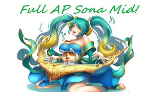 League Of Legends Full AP Sona Mid!