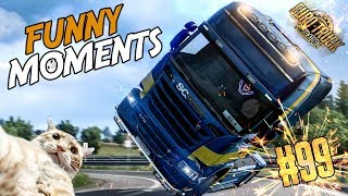 Euro Truck Simulator 2 Multiplayer Funny Moments & Crash Compilation #99