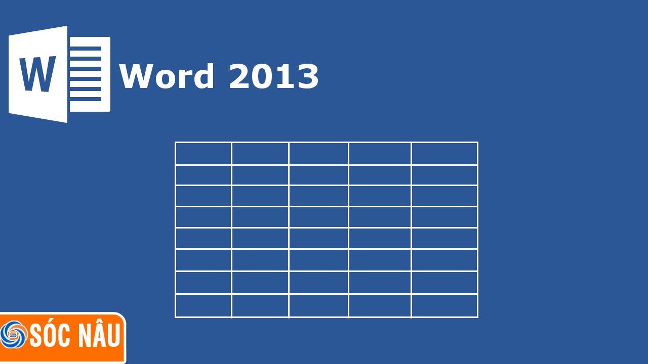 Chèn bảng tính excel vào Word 2007, 2010, 2013