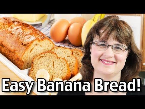 Easy Banana Bread Recipe - How To Make Banana Bread
