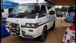 4x4 mini van - Mitsubishi Delica at the WARN booth Ovelrnad Expo 2018